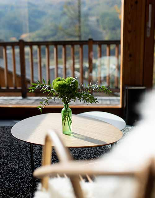 espaces chaleureux au chalet luxe snowbird pour séjour à serre chevalier